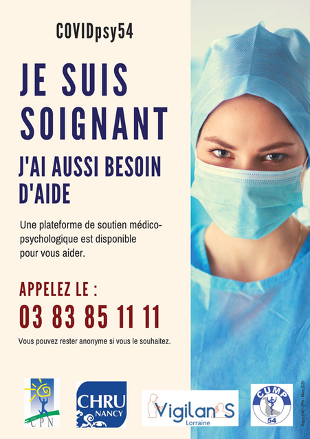 covid 19 affiche aide soignant